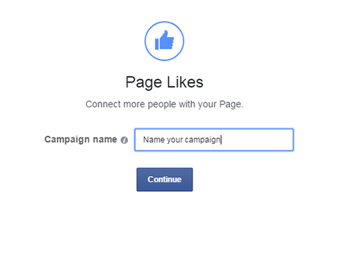 give a name to facebook campaign